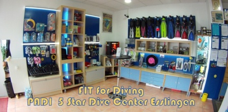 Dive Center und Shop